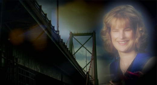 An image of Holly overlayed on a picture of the bridge Holly was found under.