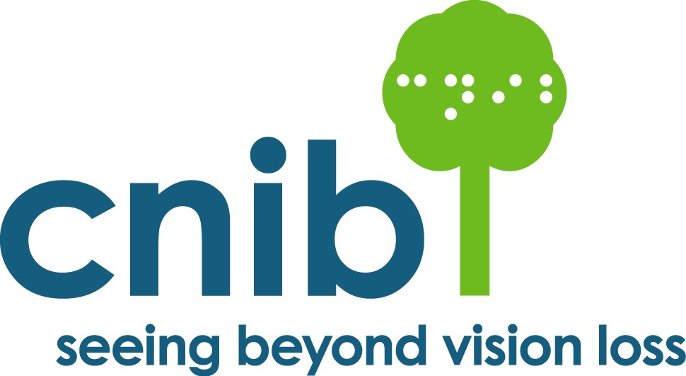 "The CNIB logo, text next to it reads ""Seeing Beyond Vision Loss"""