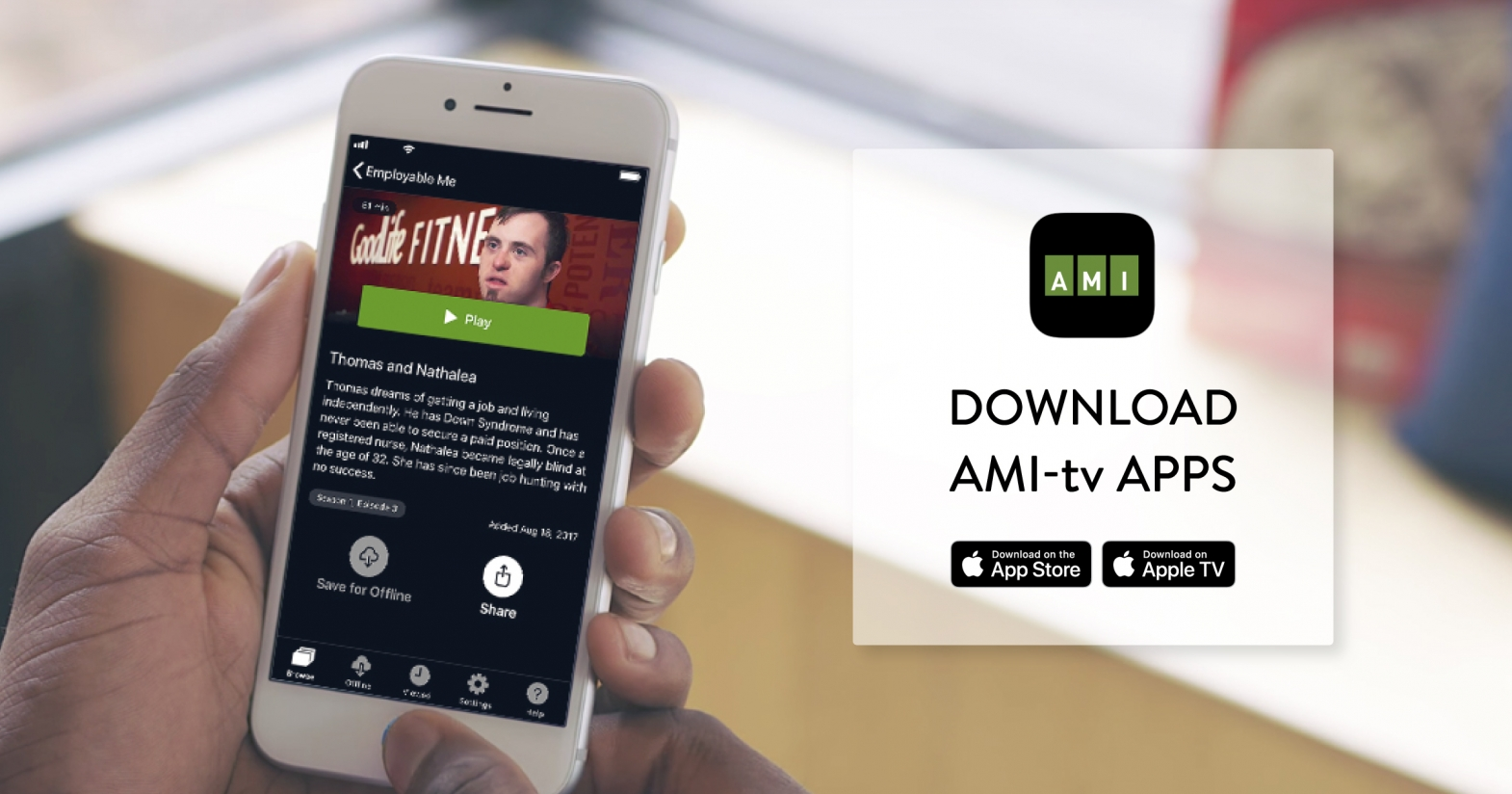 AMI App Review for iOS | Accessible Media Inc