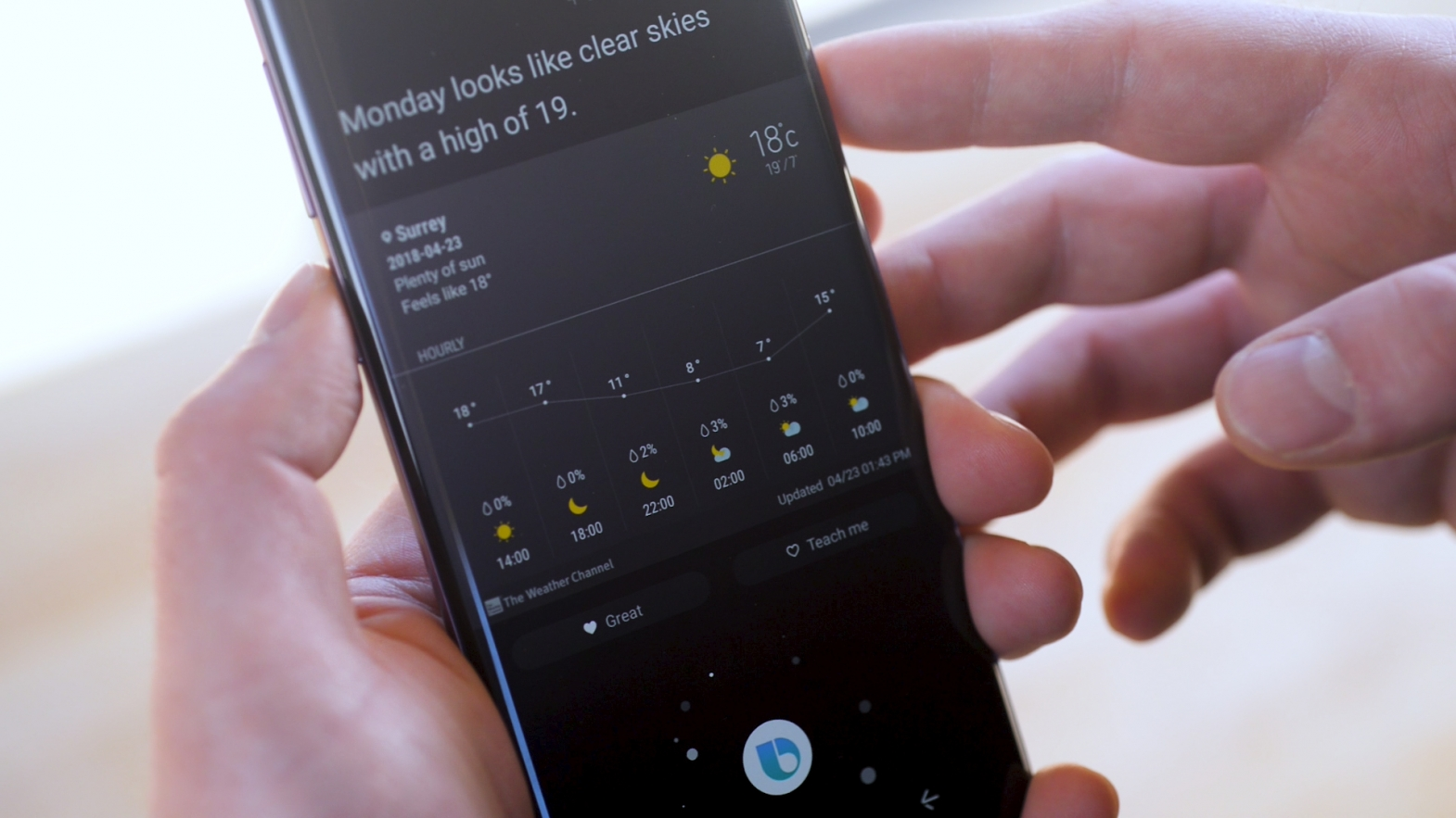 Accessibility Review of Samsung Galaxy S9 and S9+